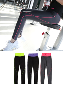 66GIRLSContrast Stitch Exercise Leggings