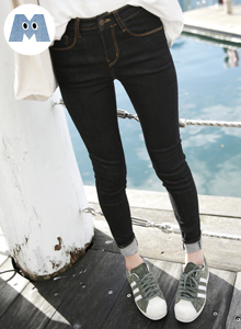 66GIRLSContrast Stitch Skinny Jeans