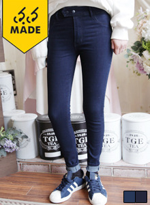 66GIRLSHigh-Rise Double Snap Skinny Jeans