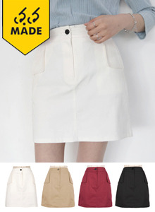 66GIRLSSide Patch Pocket Mini Skirt