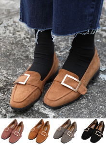 66GIRLSRectangular Buckle Loafers