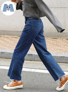 66GIRLSHigh Waist Straight-Cut Wide Leg Jeans