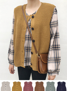 66GIRLSButton-Up Knit Vest