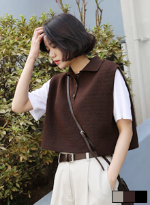66GIRLSCropped Knit Vest